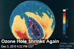 Ozone Hole Shrinks Again