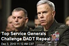 Top Service Generals Challenge DADT Repeal