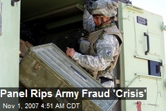 Panel Rips Army Fraud 'Crisis'