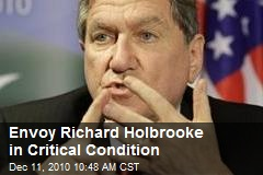 Envoy Richard Holbrooke in Critical Condition
