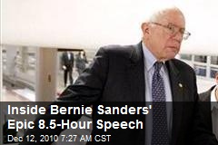 Inside Bernie Sanders' Epic 8.5-Hour Speech