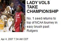 LADY VOLS TAKE CHAMPIONSHIP