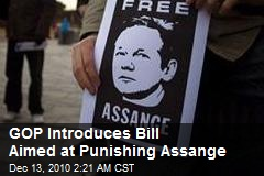 GOP Introduces Bill Aimed at Punishing Assange