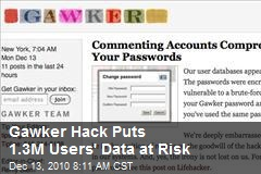 Gawker Hack Puts 1.3M Users' Data at Risk