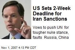 US Sets 2-Week Deadline for Iran Sanctions
