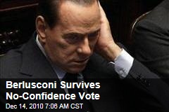 Berlusconi Survives No-Confidence Vote