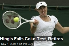 Hingis Fails Coke Test, Retires