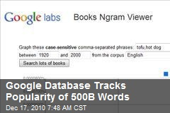 Google Database Tracks Popularity of 500B Words