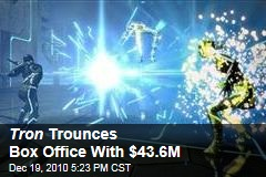 Tron Trounces Box Office With $43.6M