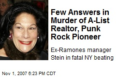 Few Answers in Murder of A-List Realtor, Punk Rock Pioneer