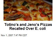 Totino's and Jeno's Pizzas Recalled Over E. coli