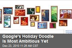 Google's Holiday Doodle Is Most Ambitious Yet