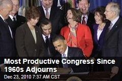 Most Productive Congress Since 1960s Adjourns