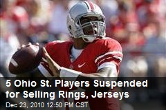 5 Ohio State Players Penalized for Selling Rings, Jerseys
