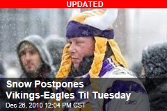 Snow May Cancel Vikings-Eagles Game