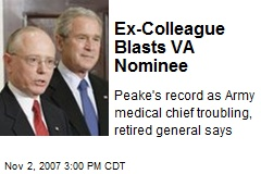 Ex-Colleague Blasts VA Nominee