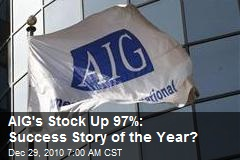 AIG's Stock Up 97%: Success Story of the Year?