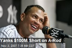 Yanks $100M Short on A-Rod