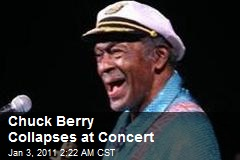 Chuck Berry Collapses at Concert