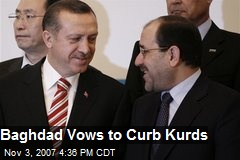 Baghdad Vows to Curb Kurds