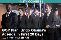 GOP Plan: Undo Obama's Agenda in First 20 Days