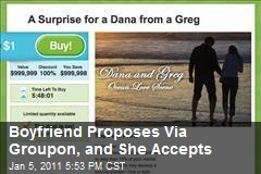 Groupon's First Marriage Proposal Gets a 'Yes'
