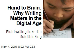 Hand to Brain: Why Writing Matters in the Digital Age
