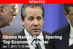 Obama Names Gene Sperling Top Economic Adviser