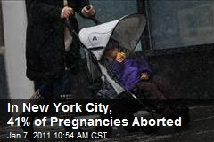 In New York City, 41% of Pregnancies Aborted