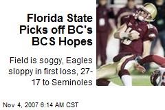 Florida State Picks off BC's BCS Hopes