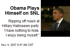 Obama Plays Himself on SNL