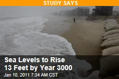 Sea Levels to Rise 13 Feet by Year 3000