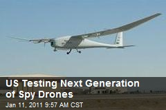 US Testing Next Generation of Spy Drones