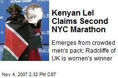 Kenyan Lel Claims Second NYC Marathon