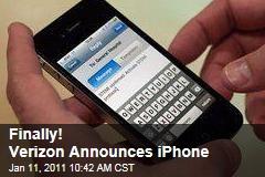 Finally! Verizon Announces iPhone