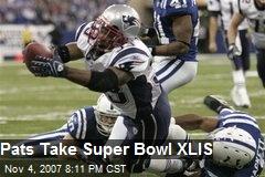 Pats Take Super Bowl XLIS