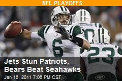 Jets Stun Patriots, Bears Beat Seahawks