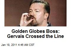 Golden Globes Boss: Gervais Crossed the Line