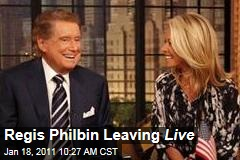Regis Philbin Leaving Live