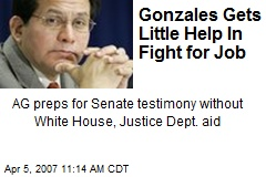 Gonzales Gets Little Help In Fight for Job
