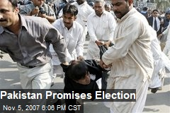 Pakistan Promises Election