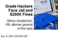 Grade Hackers Face Jail and $250K Fines