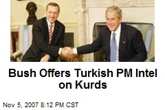 Bush Offers Turkish PM Intel on Kurds