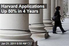 Harvard Applications Up 50% in 4 Years