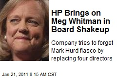 HP Brings on Meg Whitman in Board Shakeup