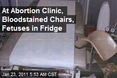 At Abortion Clinic, Bloodstained Chairs, Fetuses in Fridge