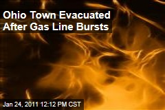 Ohio Town Evacuated After Gas Line Bursts