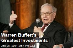 Warren Buffett's Greatest Investments