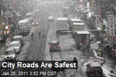 City Roads Are Safest