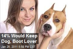 14% Would Keep Dog, Boot Lover